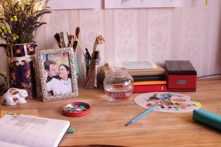 Studio space. June Sees desk space