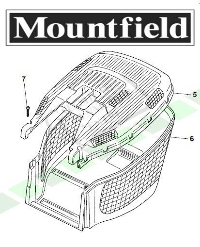 Mountfield HP454 SP454 SP536 Grass Box (Complete