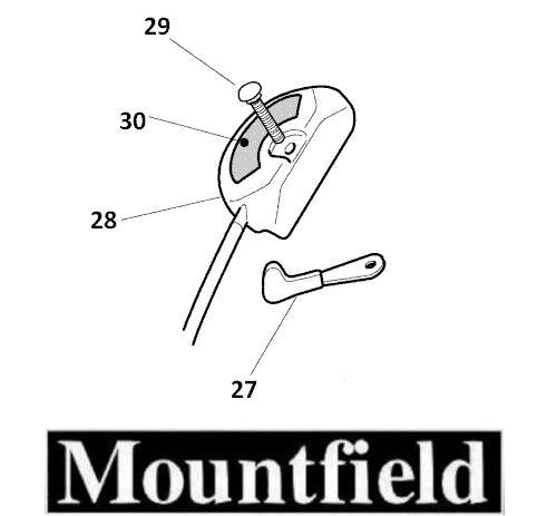 Mountfield Throttle Cable for SP536 / HP474 + More