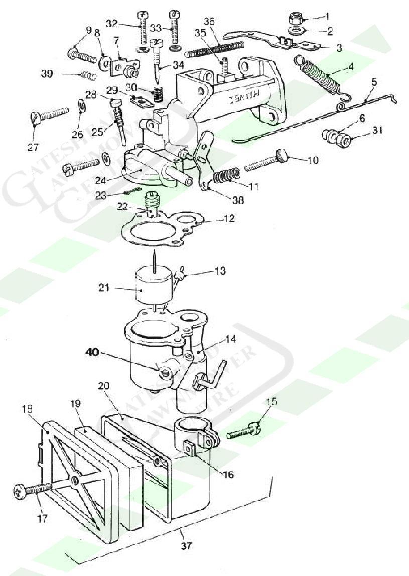 medium resolution of atco qualcast zenith tca 2 carb diagram carburettor