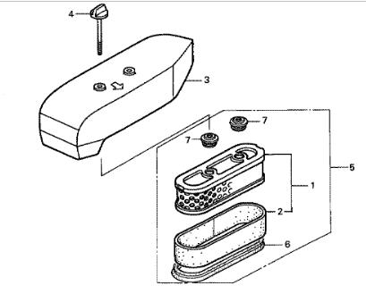 *GENUINE* Honda GXV160 Service Kit (Old Style) Air Filter