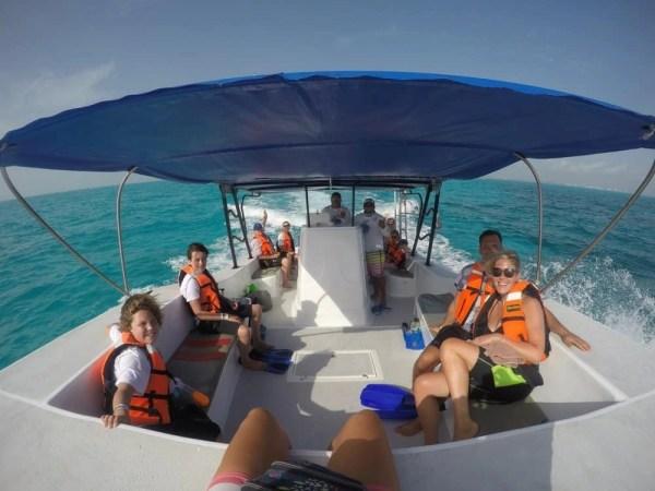 Whale shark tour boat