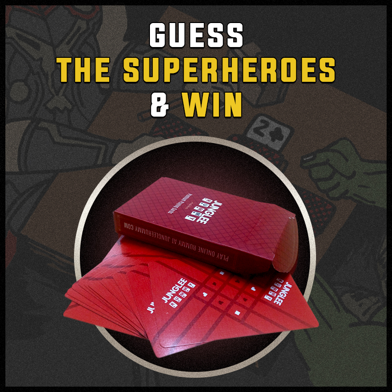 Junglee Rummy Superheroes Card Deck