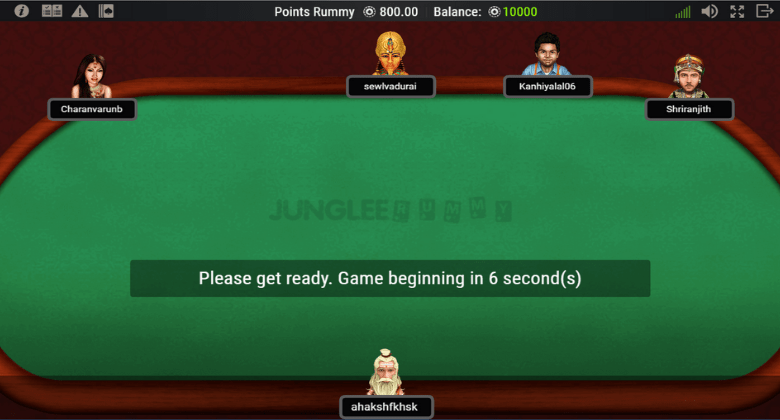 Junglee Rummy Gameplay