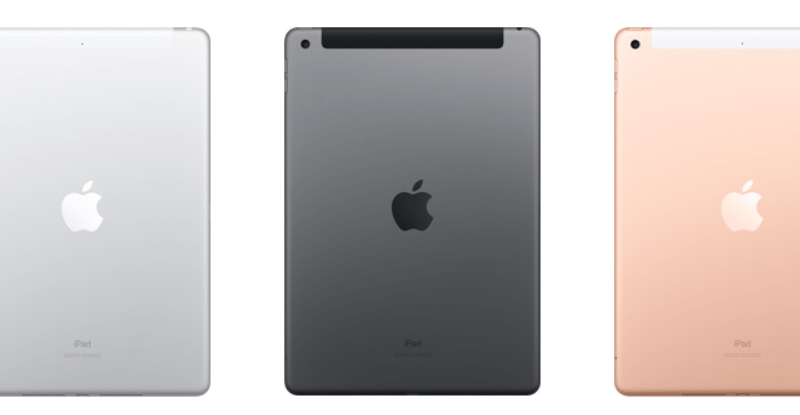 Apple iPad 7th Gen in three colour option- Silver, Space Grey, and Gold.