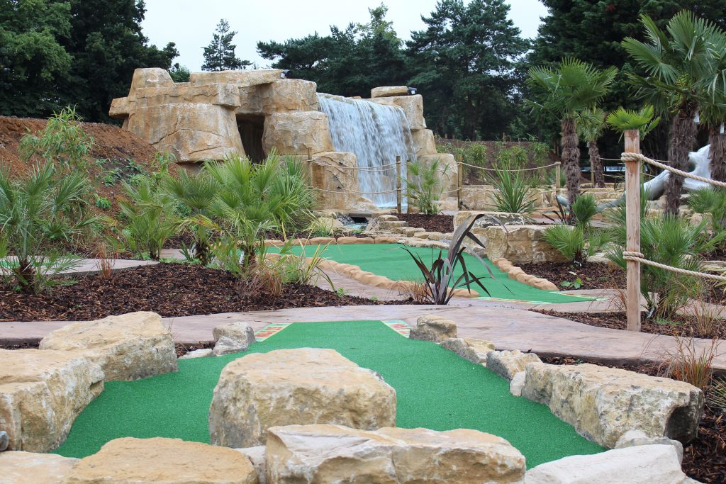 Jungle Falls Adventure Golf in London  Images and Photographs