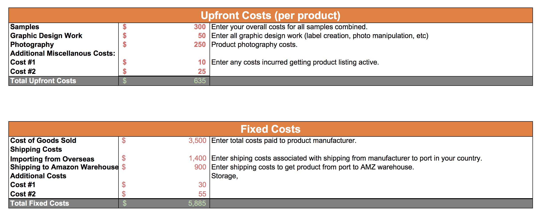 Amazon Fba Profit Calculator Free Tools