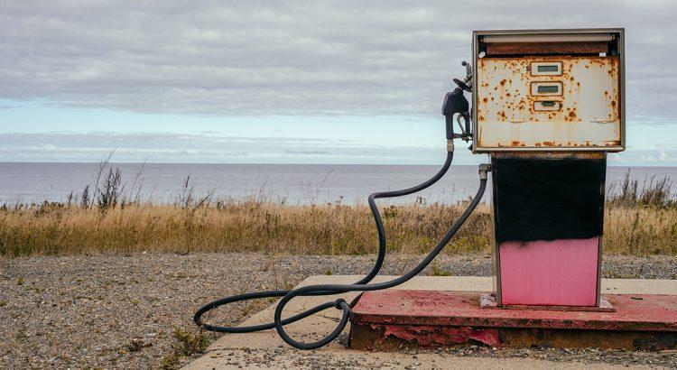 Image montrant une pompe plus utilisée - fin du pétrole article