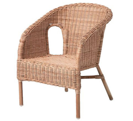 Agen rattan chair for kids at Ikea Junior Hipster