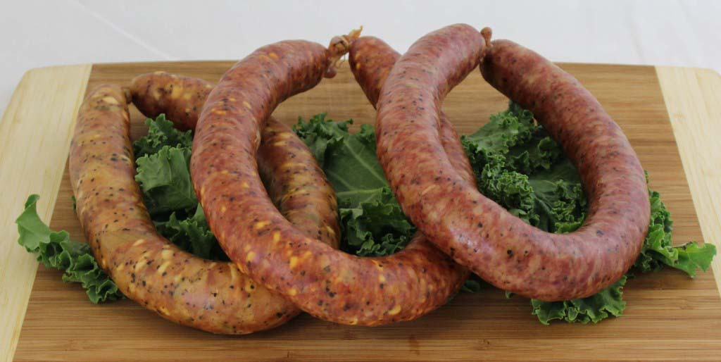variety of sausage links