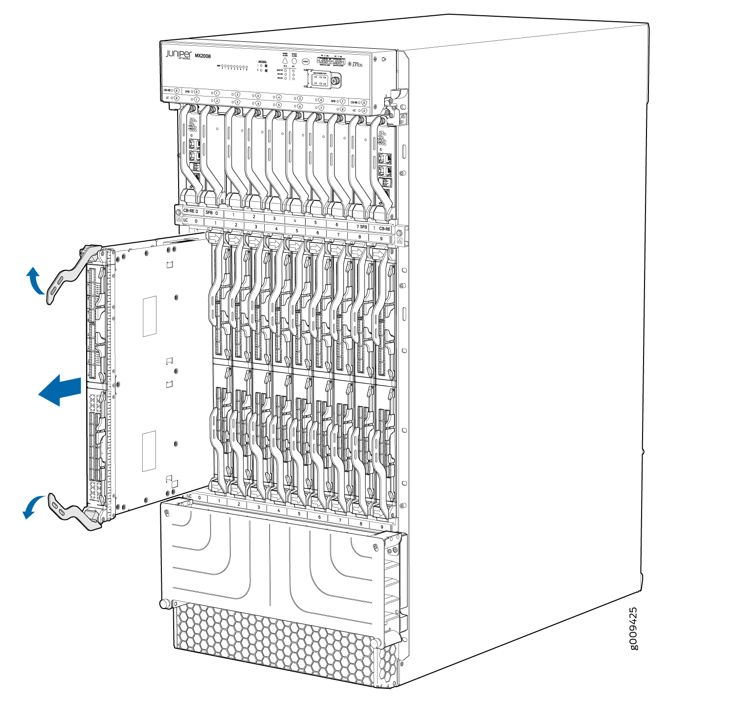 Removing Components From The Mx Router Chassis Before