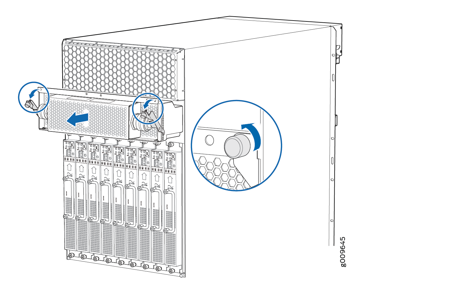 Removing an MX2000 Three-Phase Delta AC Power Distribution