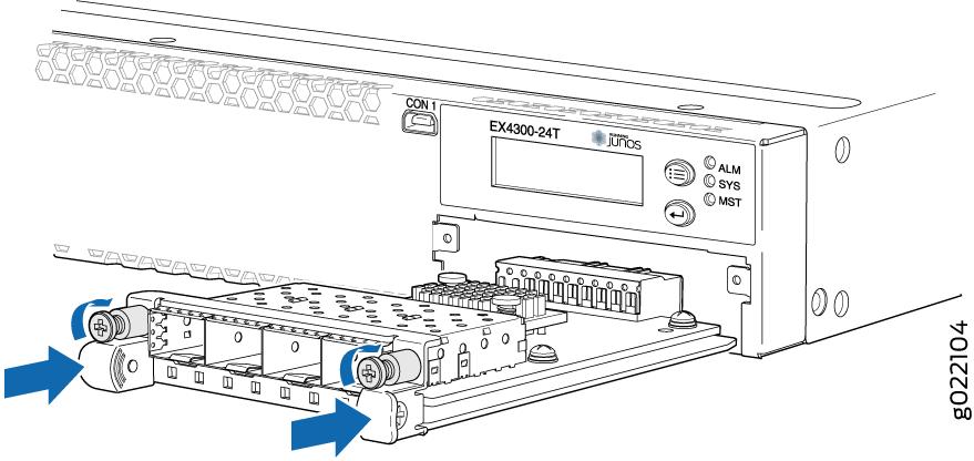 Installing an Uplink Module in an EX4300 Switch