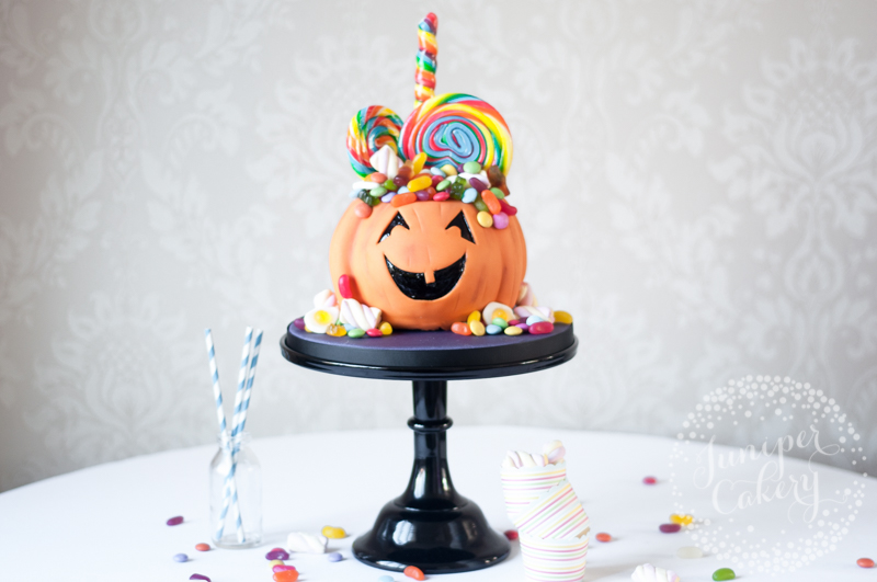 Candy For Brains Jack O'Lantern Cake Tutorial for Tala by Juniper Cakery