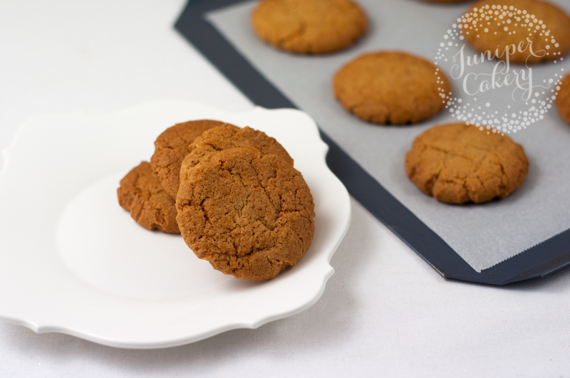 Recipe for soft gingerbread cookies by Juniper Cakey