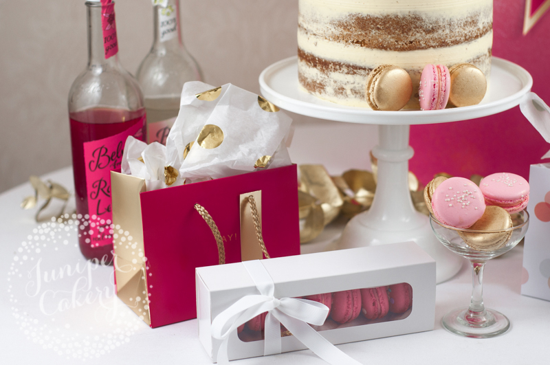 Pink and gold themed birthday