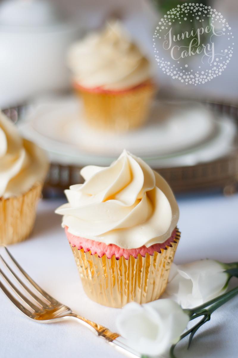Pink vanilla cupcakes by Juniper Cakery