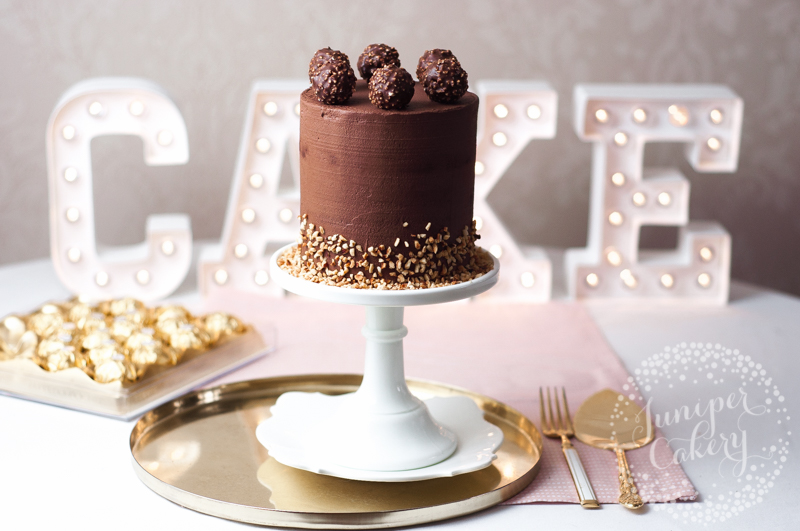 Ferrero Rocher Cake recipe for Autumn by Juniper Cakery