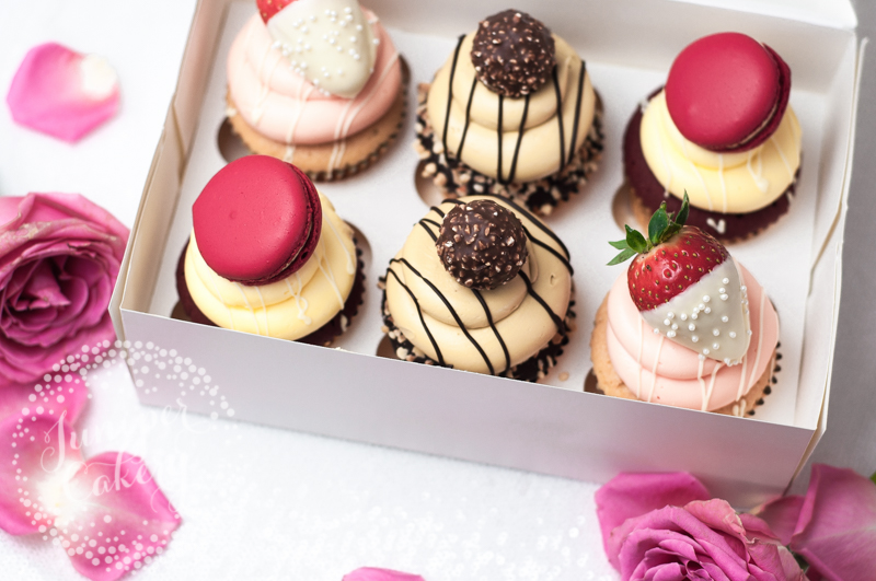 Gourmet cupcakes for Valentine's Day by Juniper Cakery