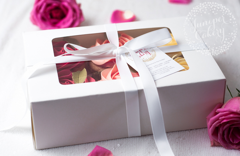 Boxed Valentine cupcakes by Juniper Cakery