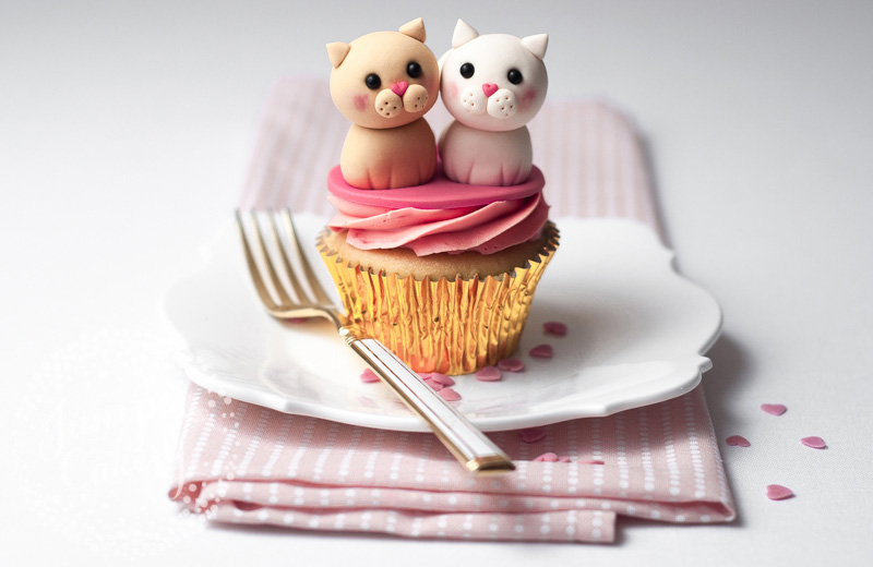 Love Cats Valentine Cupcake Tutorial by Juniper Cakery