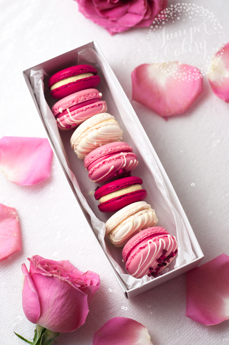 Valentine's Day macarons in Hull by Juniper Cakery