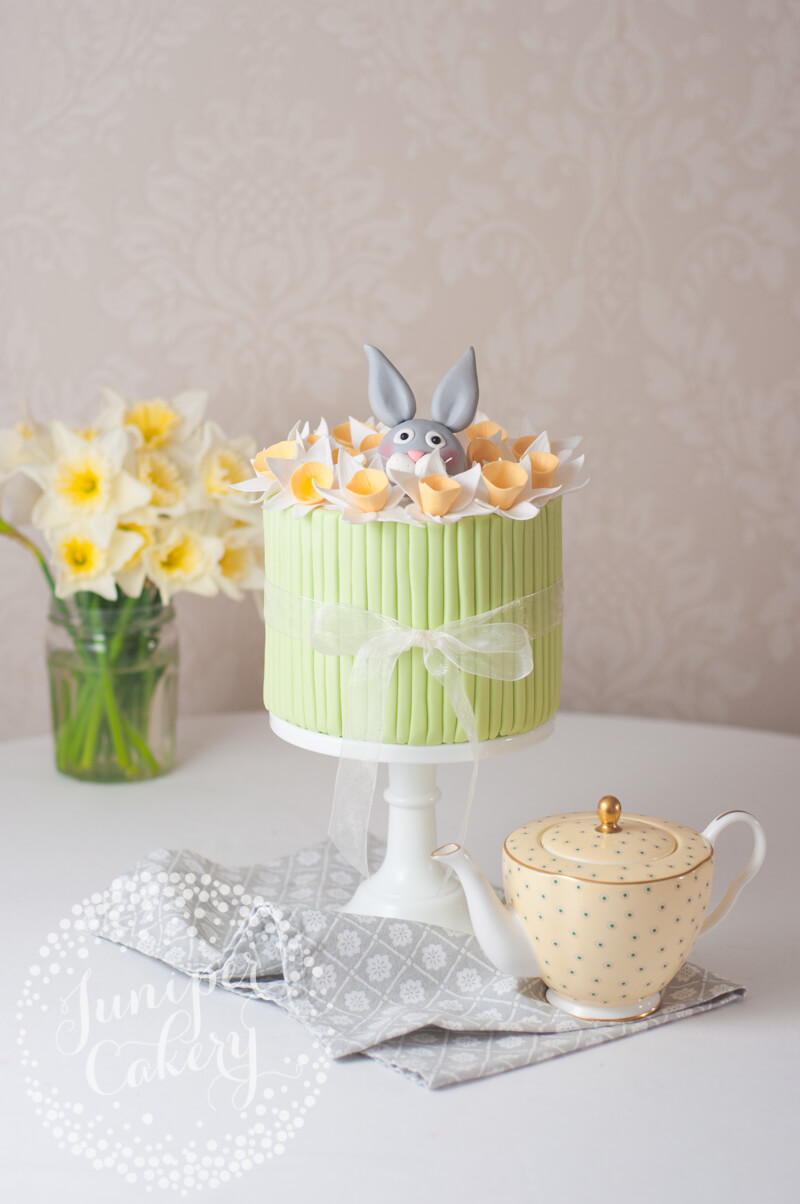 Easter Daffodil and rabbit cake by Juniper Cakery
