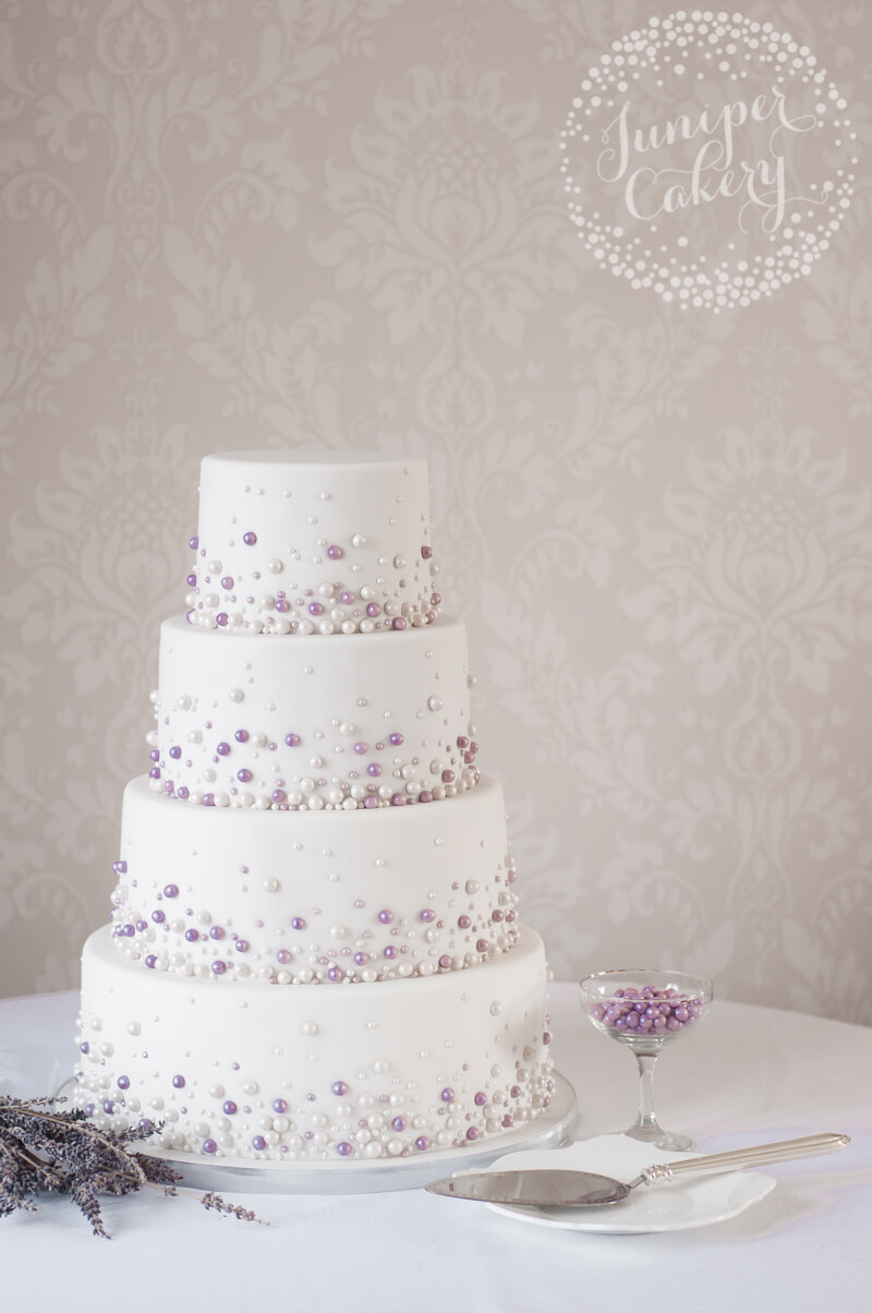 Pearl wedding cake by Juniper Cakery