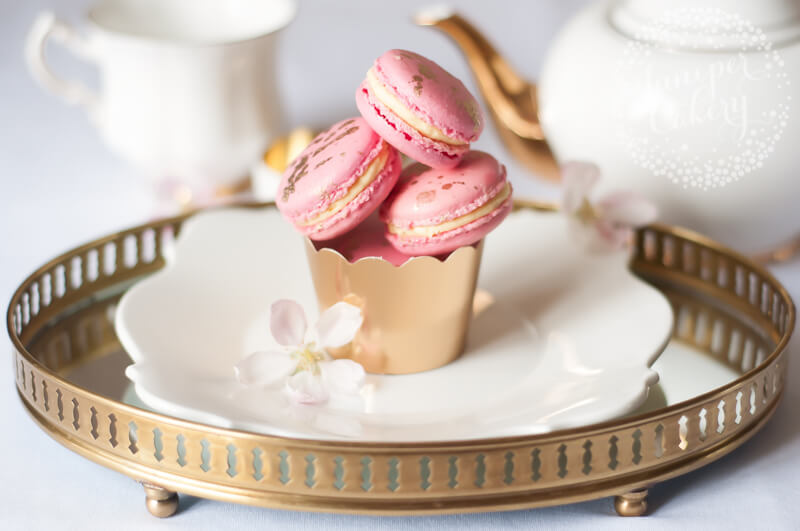 Pink champagne macarons by Juniper Cakery