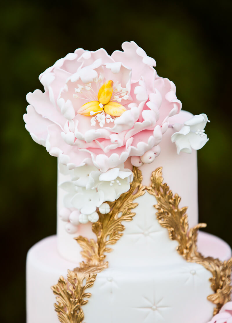Rococo wedding cake by Juniper Cakery in Yorkshire