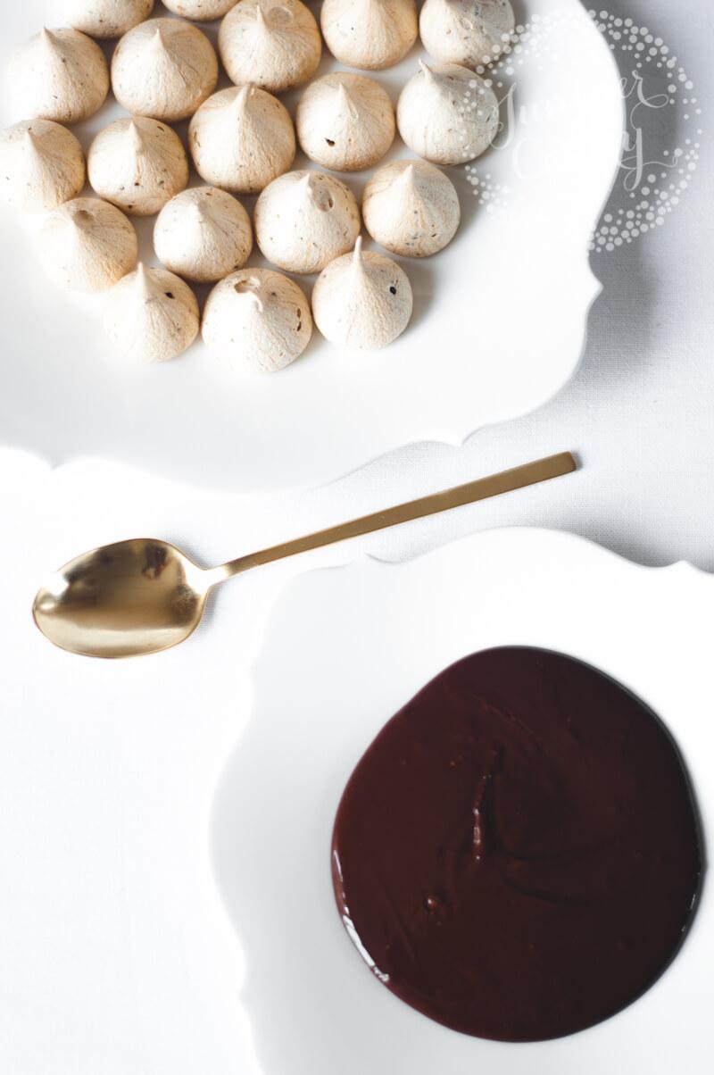 Chocolate Dipped Mocha Meringue Kisses Recipe