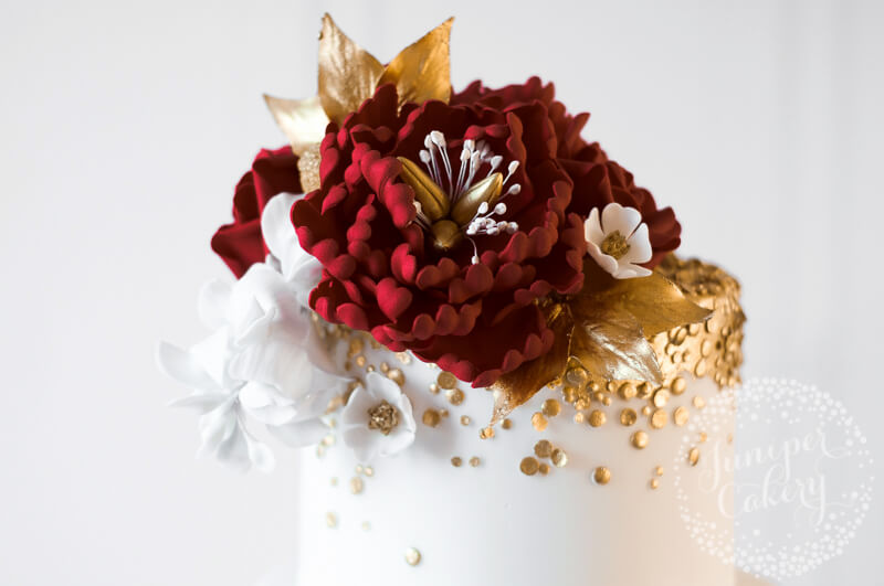 Asian wedding cake archives juniper cakery bespoke cakes in red gold and white indian wedding cake by juniper cakery mightylinksfo Image collections