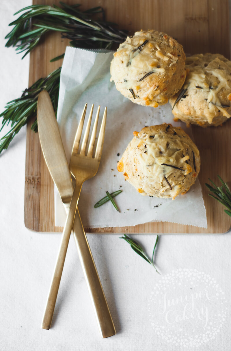 Rosemary, black pepper and cheddar scones recipe