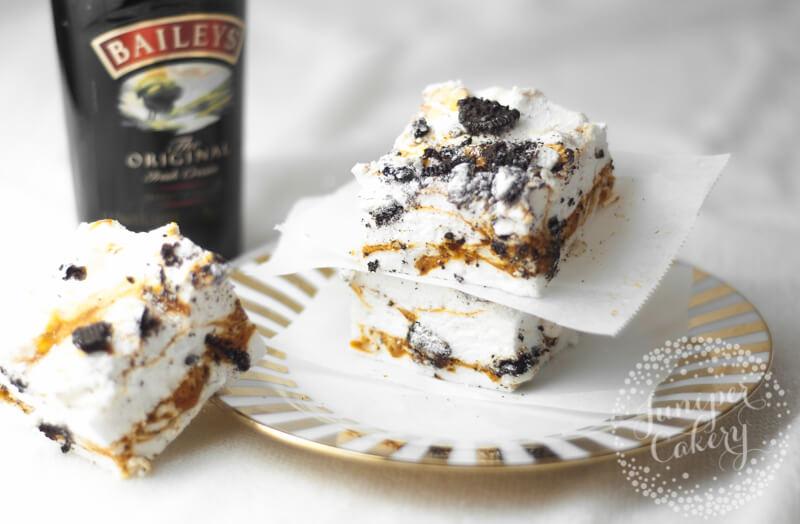 Cookies and Irish cream marshmallow recipe from Juniper Cakery