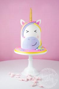 Our Unicorn Cake Tutorial over at Craftsy.com!