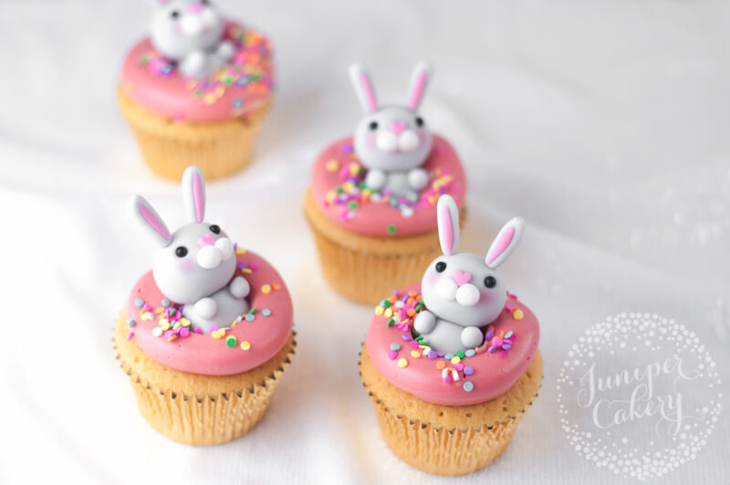 Strawberry Easter cupcakes by Juniper Cakery