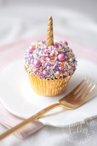 Tutorial: Super Easy Rainbow Sprinkle Unicorn Cupcake!