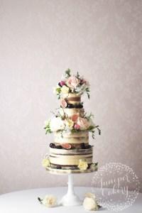 Wild English Countryside Semi-Naked Wedding Cake!