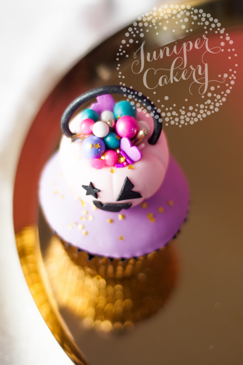 Make this bright Halloween cupcake from Juniper Cakery