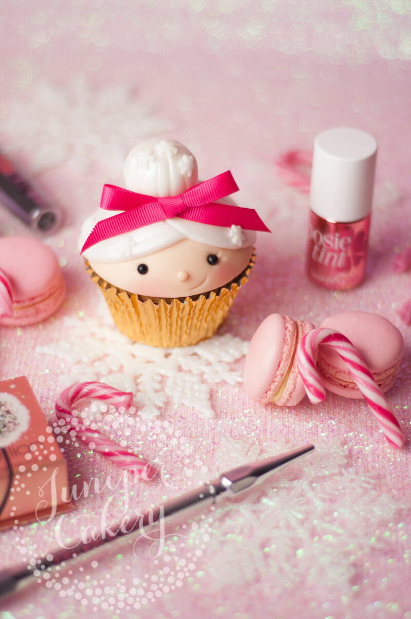 Mrs Claus Benefit Cosmetics cupcake