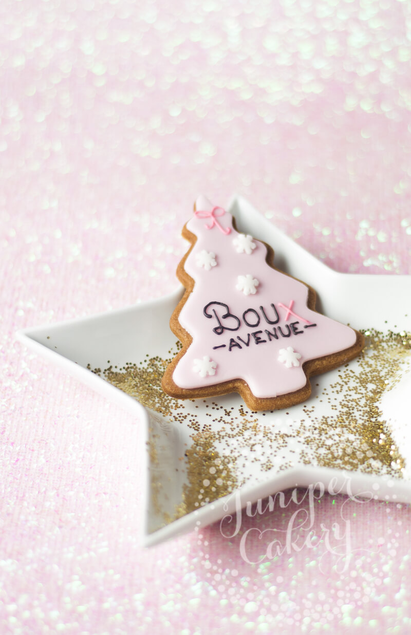 Christmas cookies for Boux Avenue by Juniper Cakery