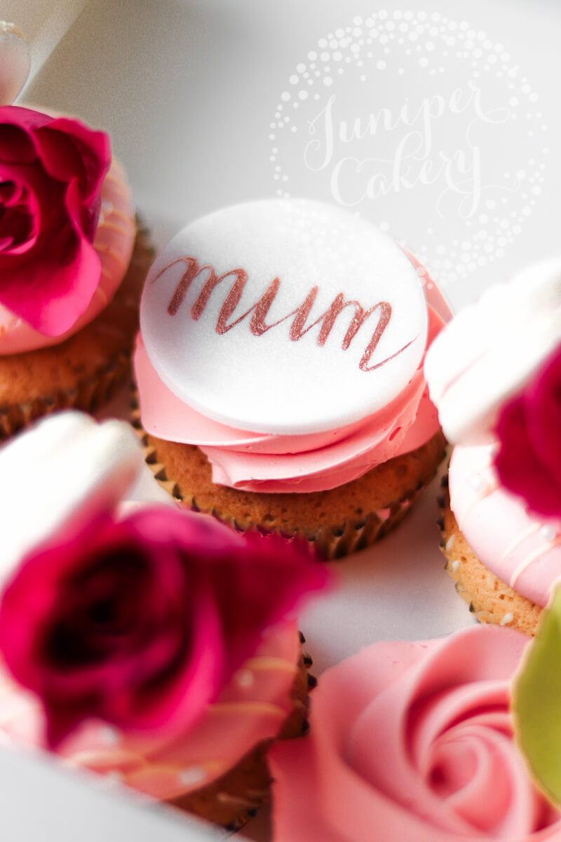 Happy Mother's Day cupcakes in Yorkshire by Juniper Cakery