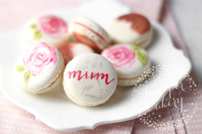 Mother's Day macarons in Yorkshire by Juniper Cakery