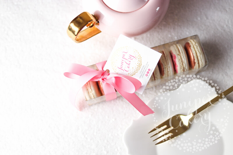 Cute Mother's Day macarons by Juniper Cakery