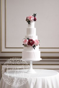 Modern Garden Wedding Cake Exclusively for Rise Hall!