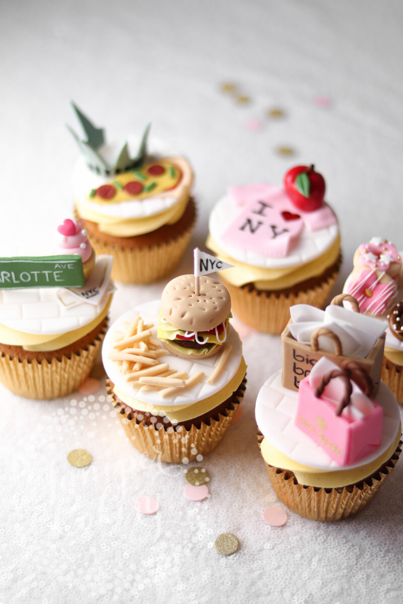 Cute NYC themed cupcake by Juniper Cakery