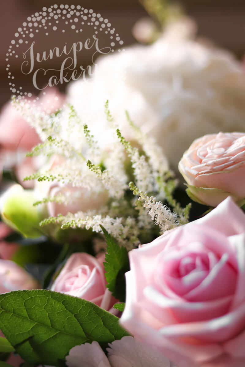 Pink flowers at a Rise Hall wedding by Floral Lounge