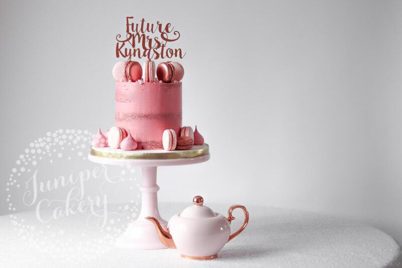 Bachelorette semi-naked cake by Juniper Cakery