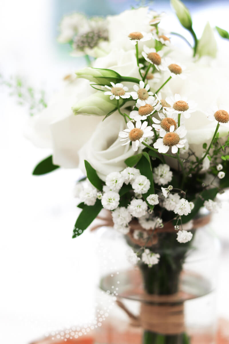 White wedding at Elsham Hall by The Wedding and Flower Boutique