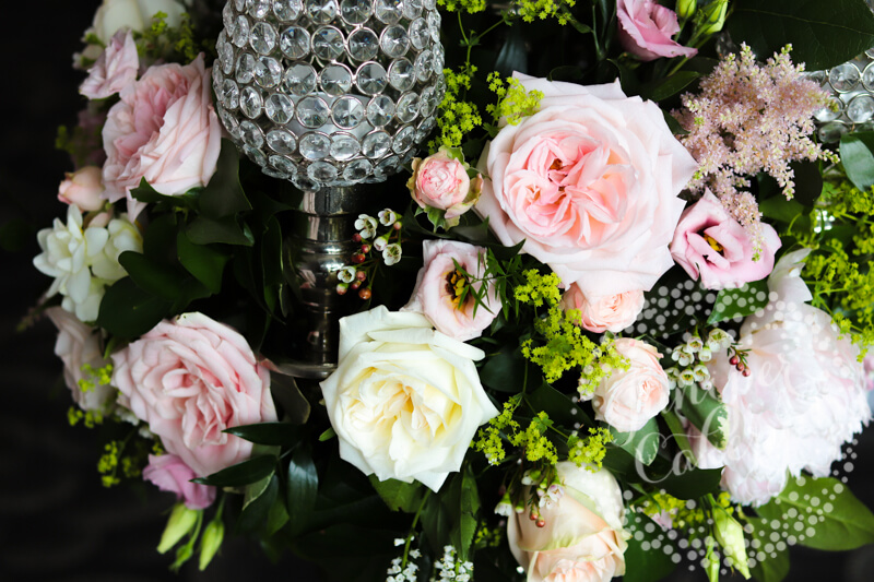 Pink wedding florals by The Wedding and Flower Boutique and Sanctuary Flowers